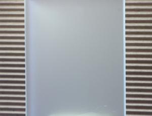 Стекло Сатин (матовое, химтравление), 4 мм. Влагостойкое. Производство AGC. Размеры листов: 2550х1605.