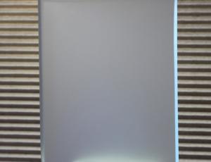 Стекло Сатин (матовое, химтравление), 6 мм. Влагостойкое. Производство AGC. Размеры листов: 2550х1605.