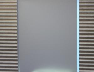 Стекло Сатин (матовое, химтравление), 8 мм. Влагостойкое. Производство AGC. Размеры листов: 2550х1605.